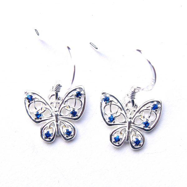 Beautiful Blue Butterfly Earrings