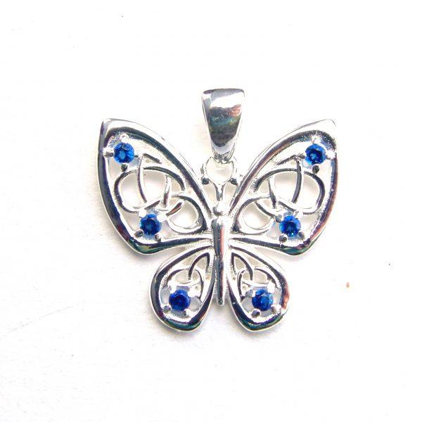 Beautiful Blue Butterfly Pendant