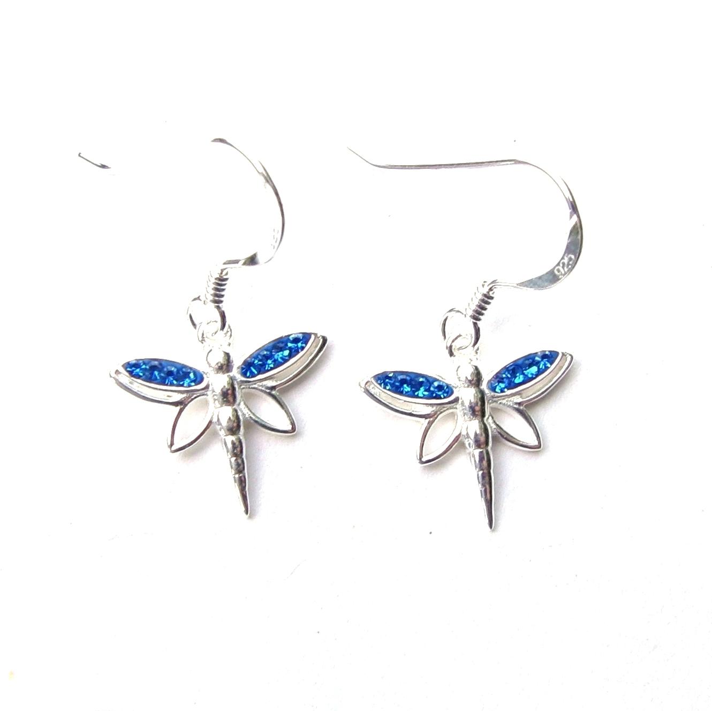 Beautiful Blue Dragonfly Earrings