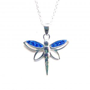 Beautiful Blue Dragonfly Necklace.