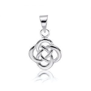 Dainty Celtic Infinity Knot Pendant.