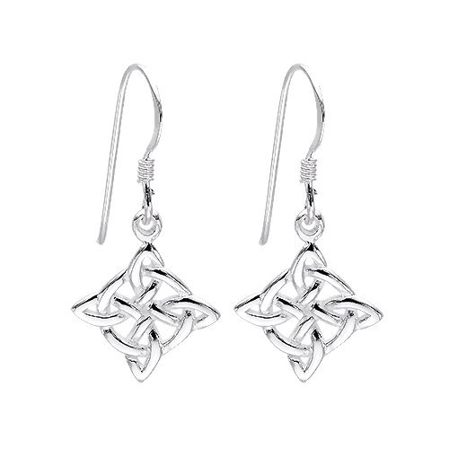 Pretty Silver Celtic Knot Earrings