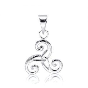 Pretty Silver Celtic Swirl Pendant.