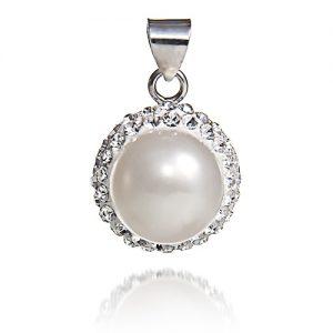 Freshwater Pearl Crystal Pendant