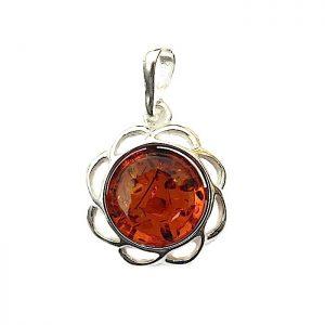 Absolutely Stunning Amber Flower Pendant