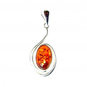 Absolutely Stunning Oval Amber Pendant