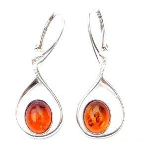 Beautiful X Large Amber Oval Earrings