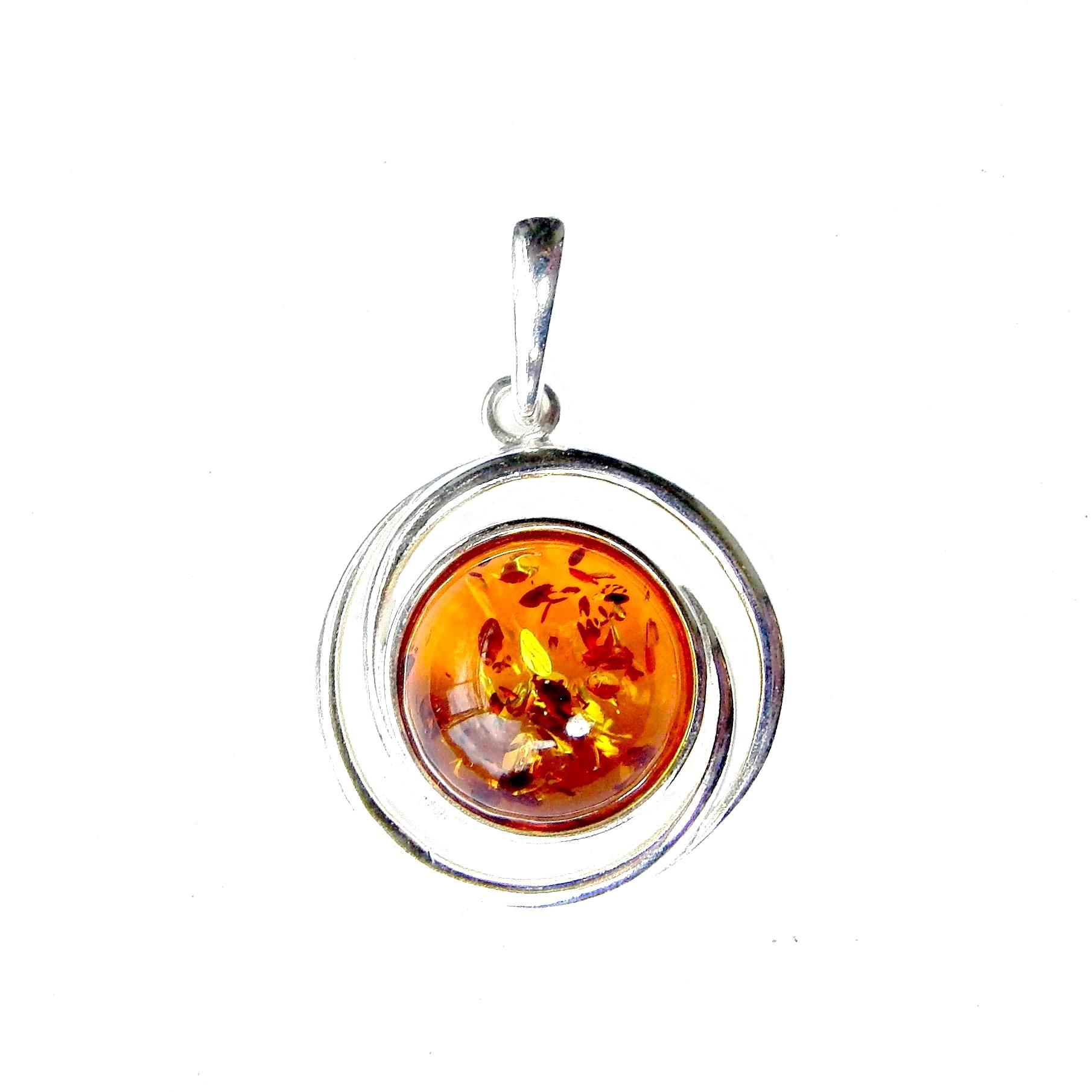 Absolutely Stunning Amber Round Pendant