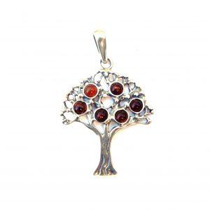 stunning amber tree of life pendant