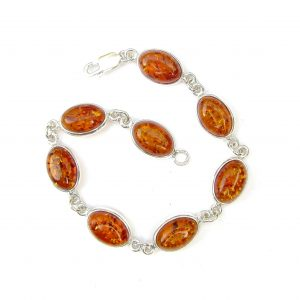 Beautiful Amber Oval Cabochon Bracelet