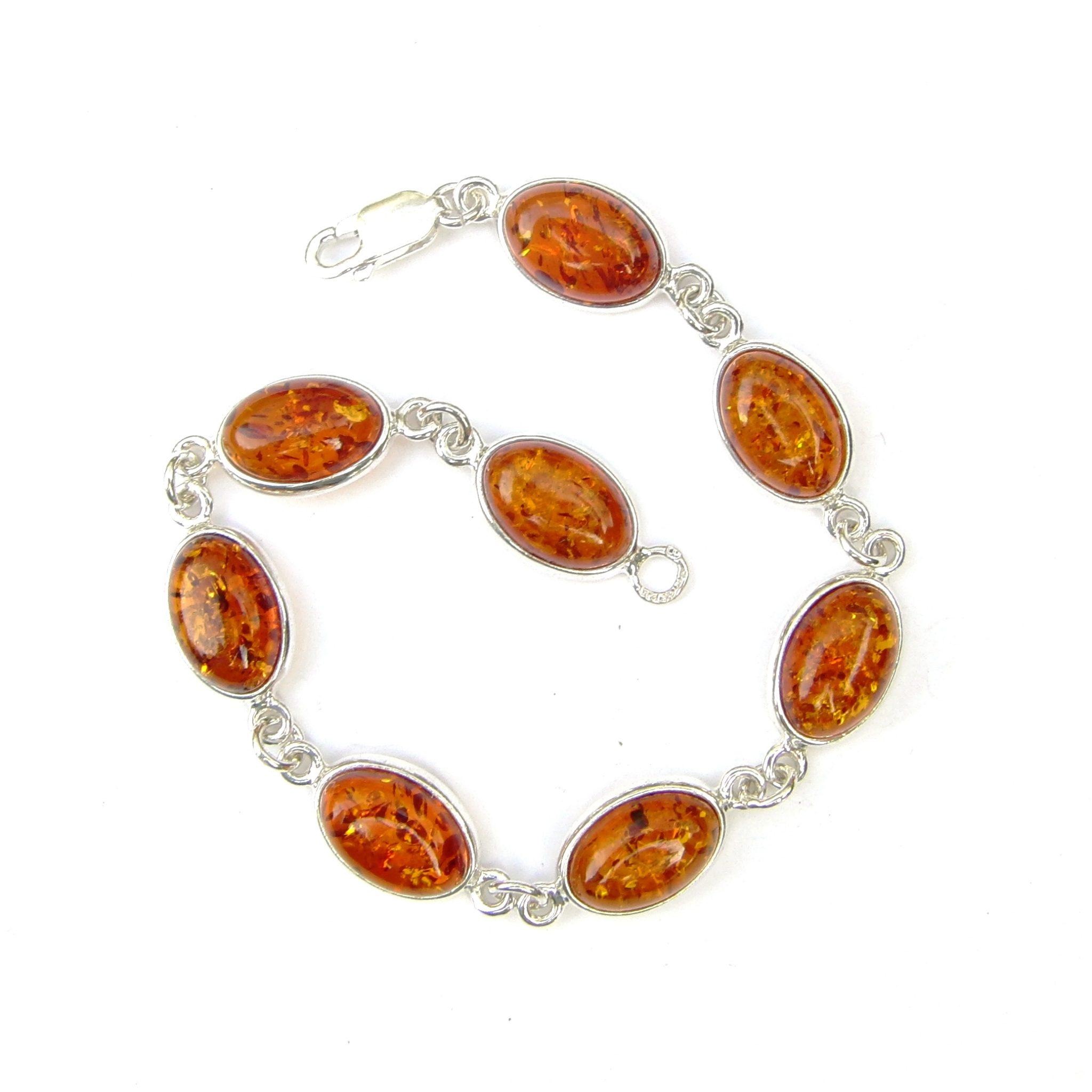 Beautiful Amber Oval Cabochon Bracelet