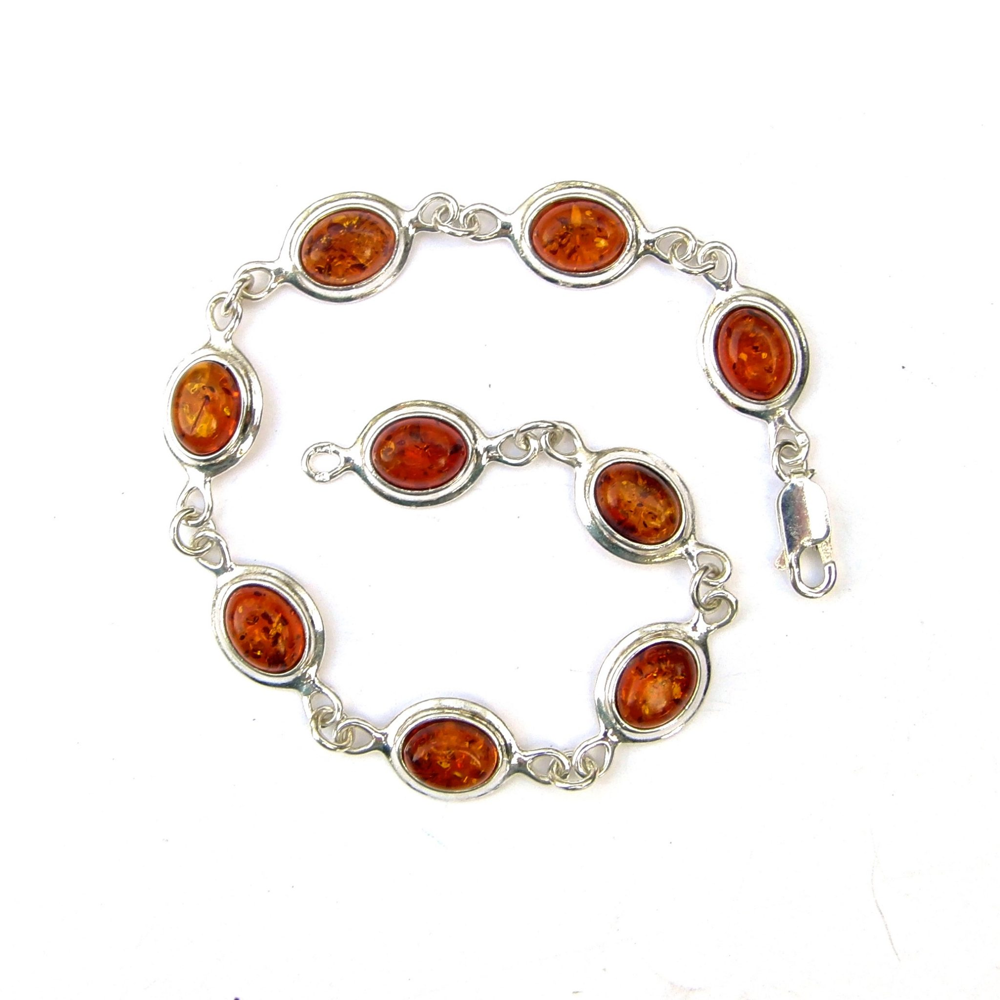 Beautiful Long Amber Oval Bracelet