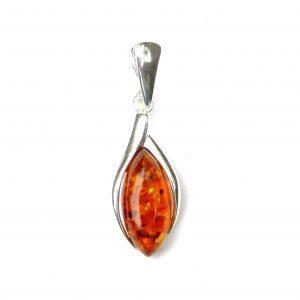 Beautiful Amber Marquise Pendant