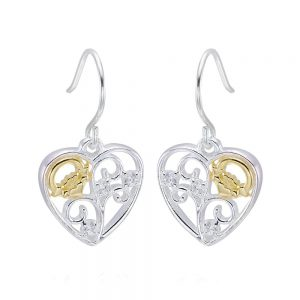 Celtic Claddagh Filigree Heart Earrings