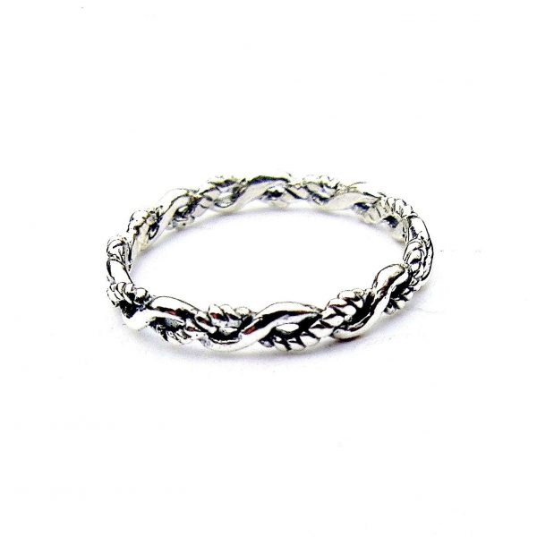 Beautiful Dainty Silver Stacking Ring