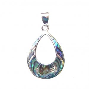Beautiful Large Abalone Silver Pendant