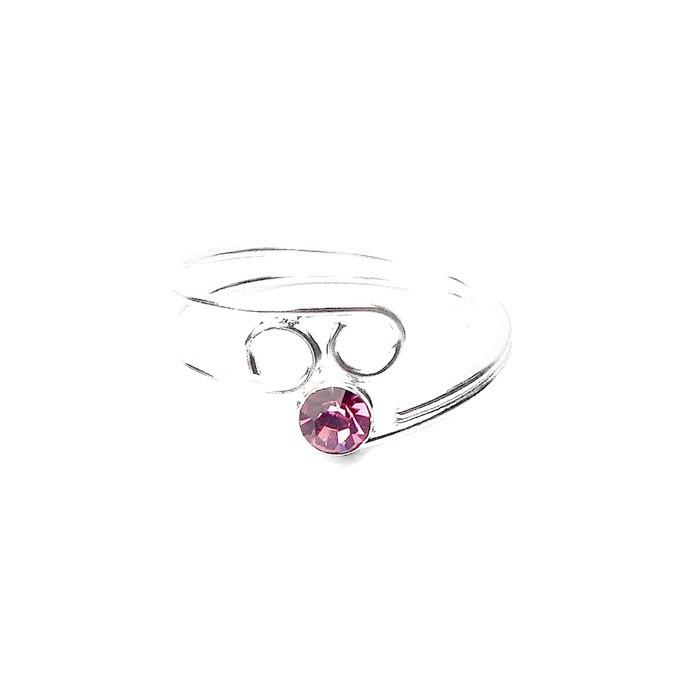 Beautiful Pink Crystal Toe Ring