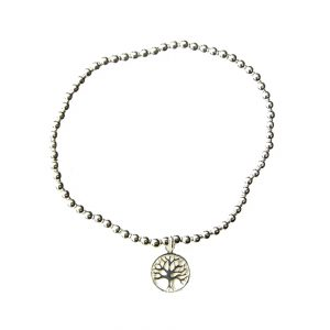 Beautiful Tree of Life Silver Charm Bracelet