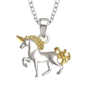 Beautiful Two Tone Unicorn Necklace