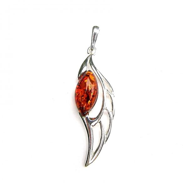 Stunning Amber Angel Wing Pendant.