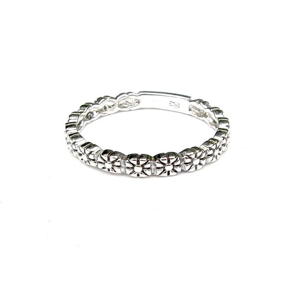 Flower Band Stacking Ring