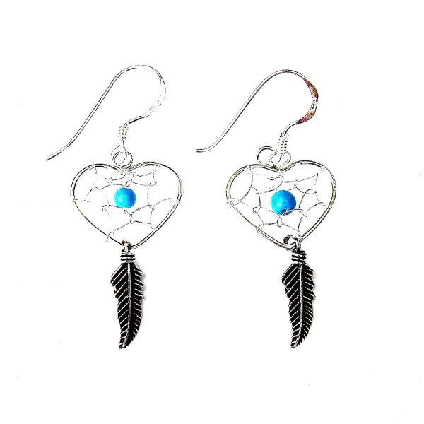 Beautiful Heart Dreamcatcher Earrings