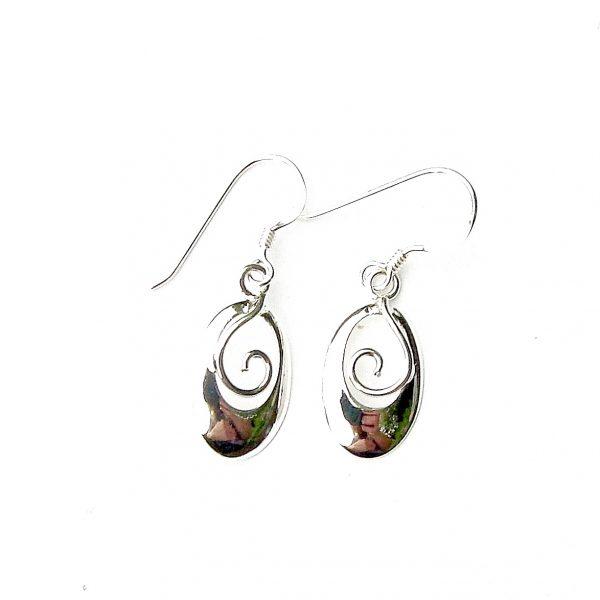 Oval Swirl Earrings