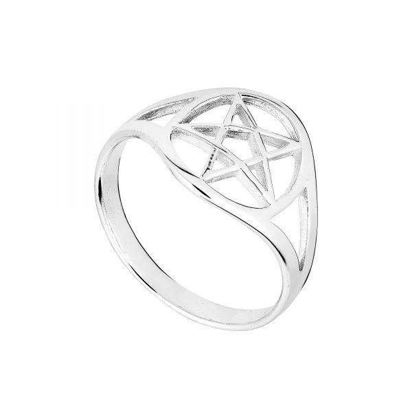 Lovely Silver Pentagram Ring
