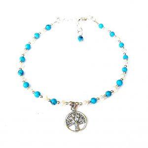 Beautiful Turquoise Tree of Life Charm Bracelet