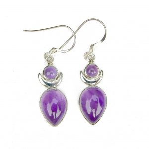 Amethyst Large Goddess Earrings