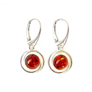 Stunning Amber Round Earrings