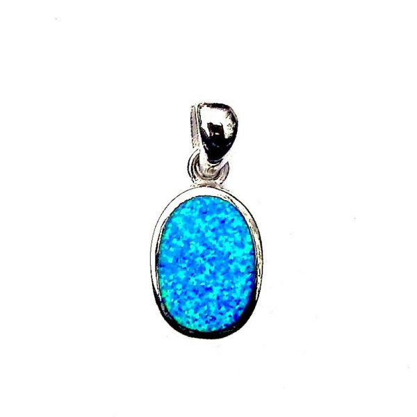Absolutely Stunning Blue Opal Oval Pendant