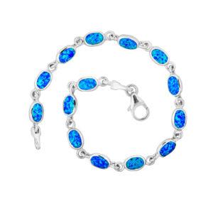Absolutly Stunning Blue Opal Oval Bracelet