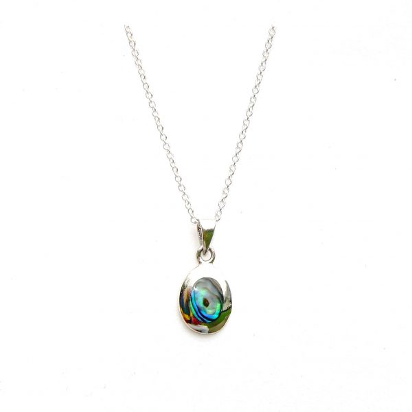 Stunning Oval Dainty Abalone Necklace