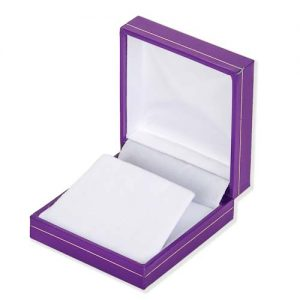Pretty Purple Drop Earring Box