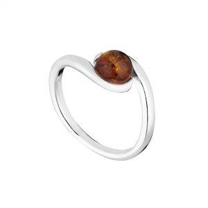 Beautiful Round Amber Ring