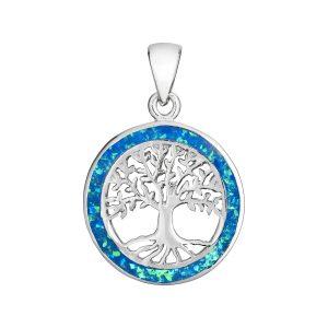 Blue Opal Tree of life Pendant