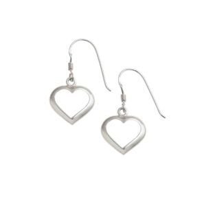 Dainty Heart Outline Earrings