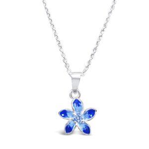 Beautiful Blue Flower Necklace