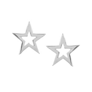 Pretty Silver Star Studs