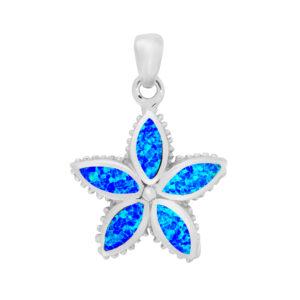 Blue Opal Starfish Pendant
