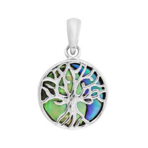 Beautiful Abalone Tree of Life Pendant
